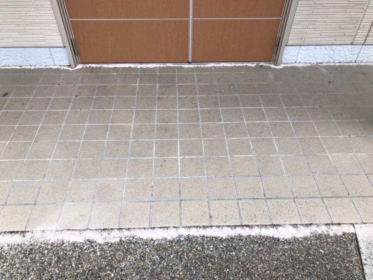 廊下、玄関前の薬剤散布 後